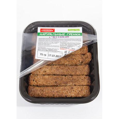 Гренки ржано-пшеничные с чесноком,70 гр