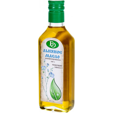 Масло Льняное, 100%, нераф. 250 гр. БО