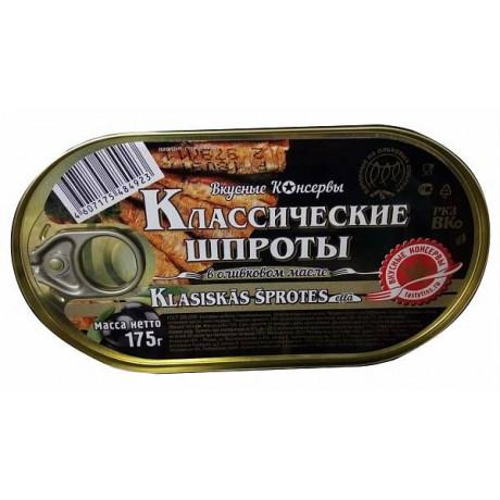 Классические шпроты в масле ВК, 175 гр