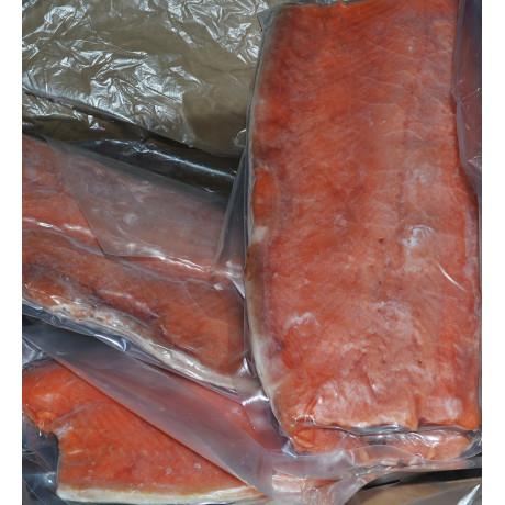Филе дикого тихоокеанского лосося  на коже 3 кг кор.