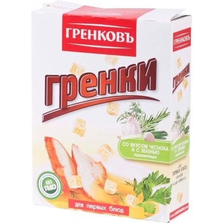 Сухарики-гренки пшеничные с чесноком и зеленью,15 гр