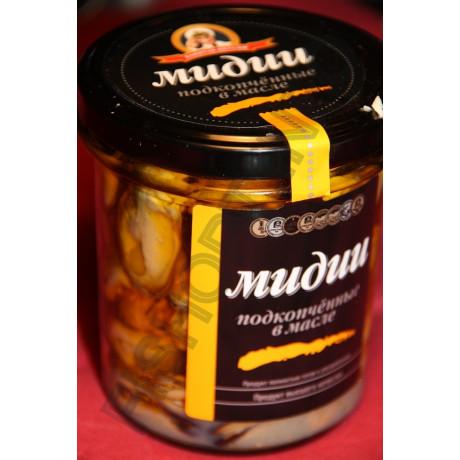 Мидии подкопченные в оливковом масле (210 гр)